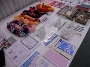 参加者の作品(商品)展示